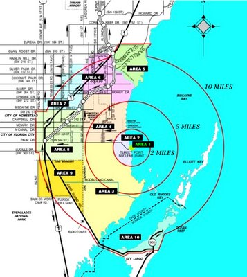 Map of Turkey Point Nuclear Generating Station