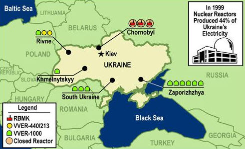 Nuclear Reactors in Unkraine (Image source: ZeroHedge.com)