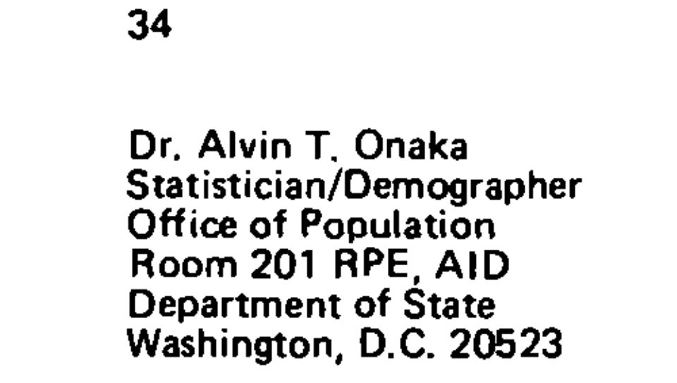 "Hawaii state registrar Alvin T. Onaka Ph.D, the Hawaii state registrar whose stamped signature appears to certify the White House PDF ""Certificate of Birth"" for President Obama is a former USAID official."