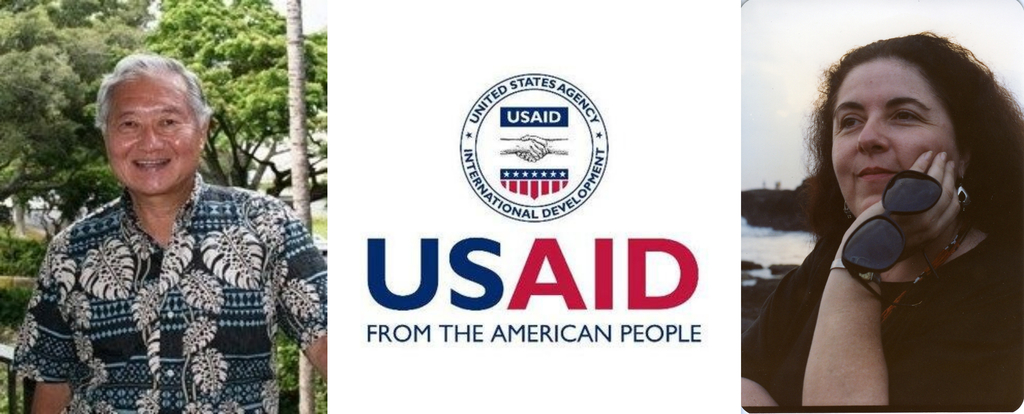 Dr. Alvin Onaka (L) and Stanley Ann Dunham (R) were both involved with USAID projects in Indonesia.