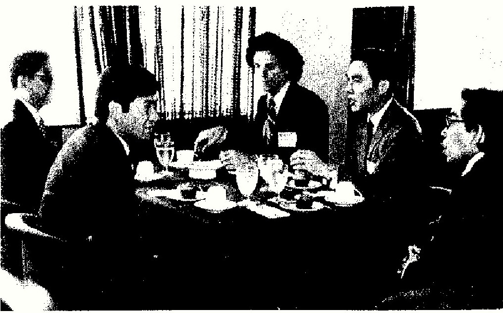 Hawaii state registrar Alvin Onaka Ph.D (2nd from R) at the Conference on Vital Statistics Practices in Asia, sponsored by the East-West Population Institute, Manila, Philippines, May 1977. (Image credit: East-West Center)