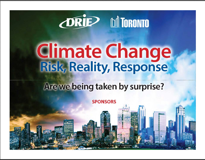'Exercise SUNKEN TREASURE' is a 'climate change' disaster drill simulating the flooding of Toronto, Canada. (Image credit: Disaster Recovery Information Exchange (DRIE) of Greater Toronto)