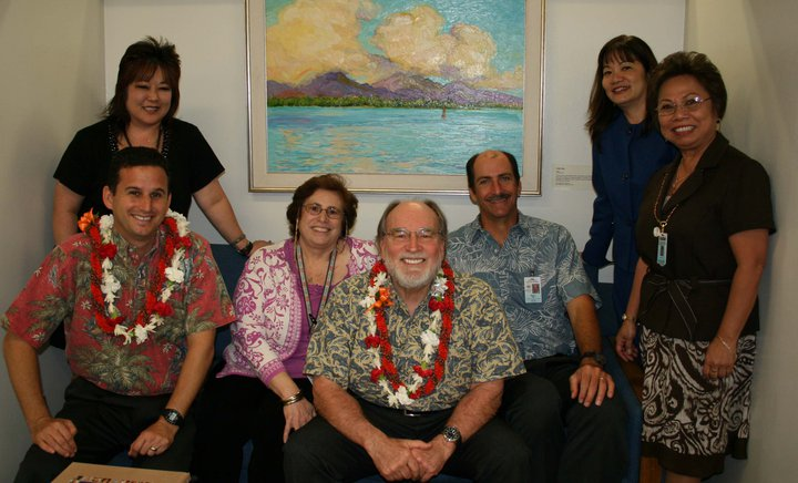 HAWAII -MAY 2011 (Approximate Date) - Hawaii Director of Health and former Subud USA National Chair Loretta 'Deliana' Fuddy (Center L) and former Hawaii Governor Neil Abercrombie (Center R) with staff members.