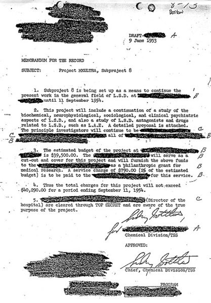 CIA's PROJECT MKULTRA