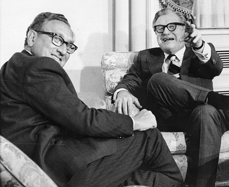 Vice President Nelson Rockefeller with Secretary of State Henry Kissinger, January 3, 1975. (Image credit: Rockefeller Archive Center)