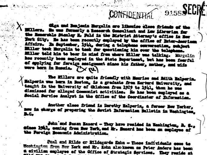 FBI Silvermaster File, Volume 24, page 71 of 166, March 1946.