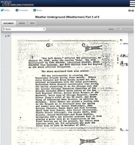 FBI Weathermen File