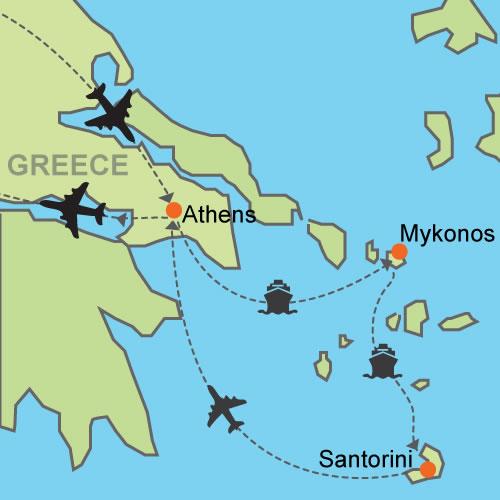 Map of Santorini
